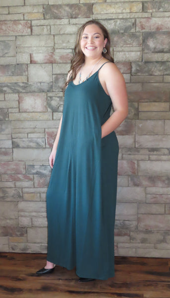Nights On The Terrace Maxi Dress Hunter Green~ Blue Country Boutique, LLC