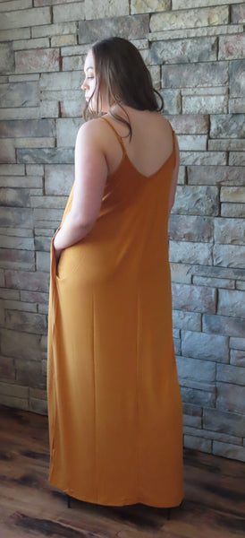 Nights On The Terrace Maxi Dress Mustard~ Blue Country Boutique, LLC