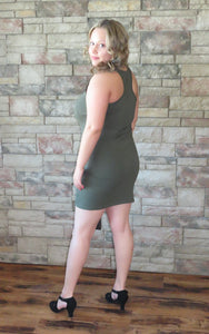 Know You Like I Do Dress Dark Olive~ Blue Country Boutique, LLC
