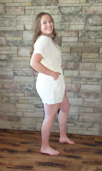 Forever In Love Romper ~ Blue Country Boutique, LLC