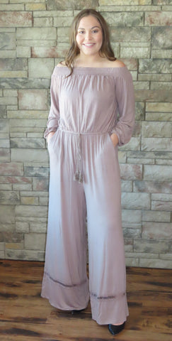 Rumors Of Love And Lace Mocha Jumpsuit ~ Blue Country Boutique, LLC