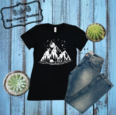 Camping In The Mountains-blue country boutique