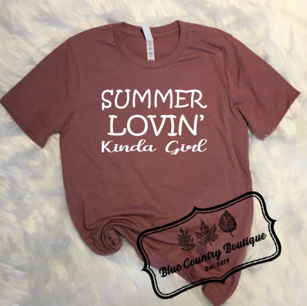 Summer Lovin' Kinda Girl- Blue Country Boutiuqe