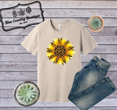 Leopard Sunflower-Blue Country Boutique