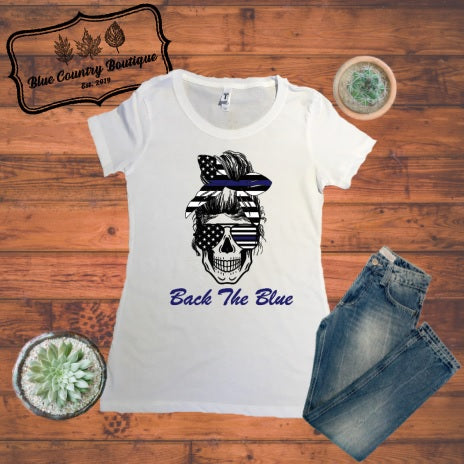 Back The Blue-Blue Country Boutique