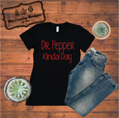 Dr Pepper kinda day-blue country boutique
