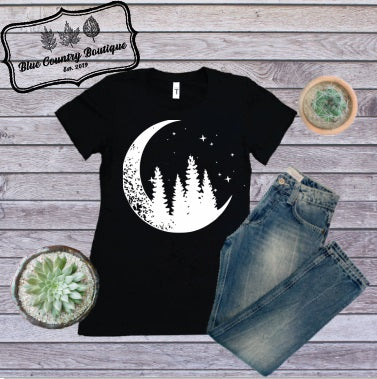 Moonlight Night T-shirt-Blue Country Boutique