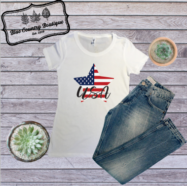 Star Flag USA-Blue Country Boutique