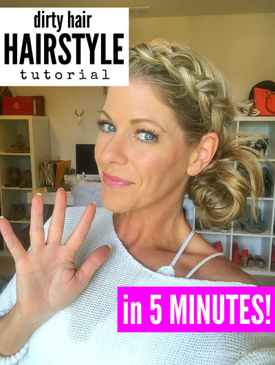 Dirty Hair Hairstyle in 5 minutes!