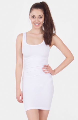 Holding It All Together Slimming Seamless Tunic Tank: White