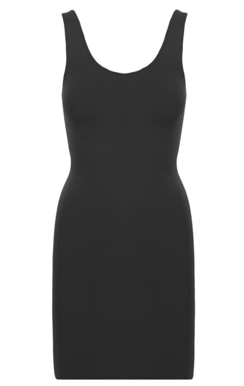 Holding It All Together Slimming Seamless Tunic Tank: Black