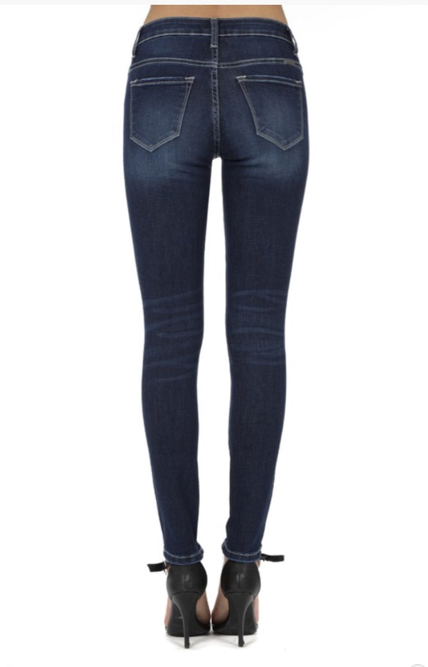 Kan Can Lola Skinny Jeggings: Dark Wash