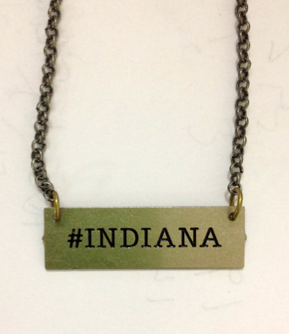 #INDIANA Hand Cut Pendant Necklace