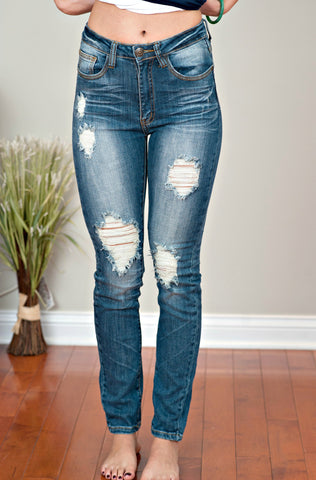 MACHINE High Waisted Skinny Jeans: Zoey Wash
