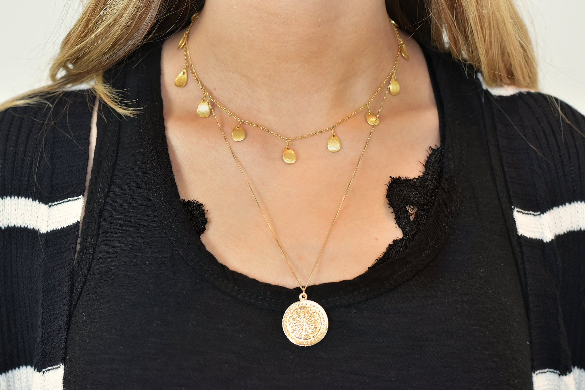 Meghan Bo Designs -The Buddha Wheel Necklace