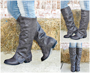 Attention To Detail Bailey Button Boots: Charcoal