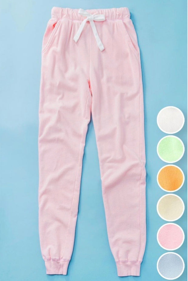 Dreams Come True French Terry Joggers: Cotton Candy Pink