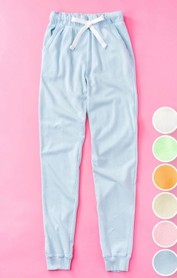 Dreams Come True French Terry Joggers: Powder Blue