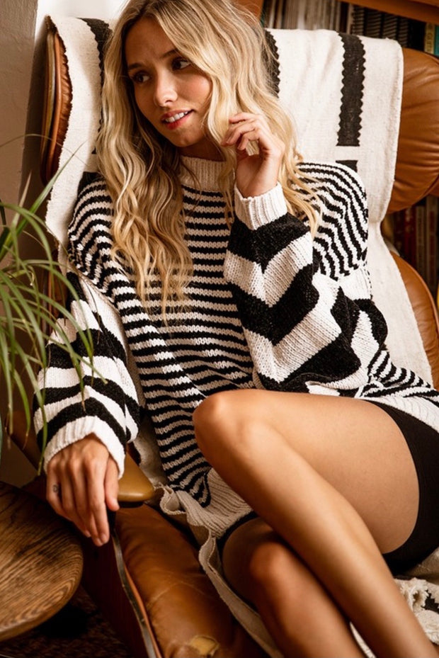 Read Between The Lines Chenille Sweater