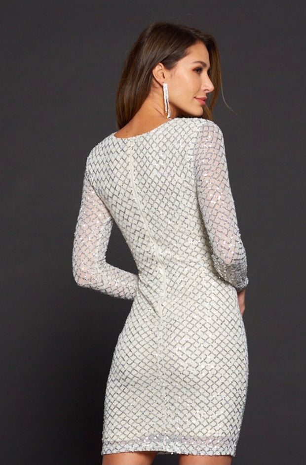 The After Party Sequin Dress: Champagne