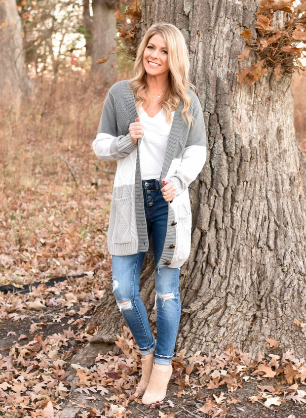 Wrapped Up In You Colorblock Cardigan