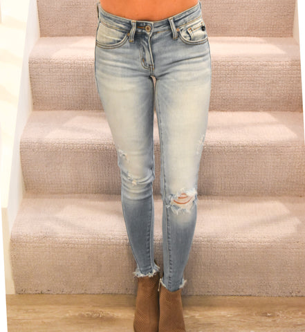 KanCan: Monroe Super Skinny Jeans-Light Wash