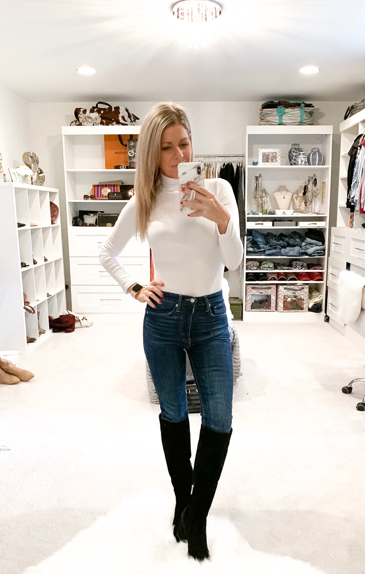 Date Night Basics White Bodysuit