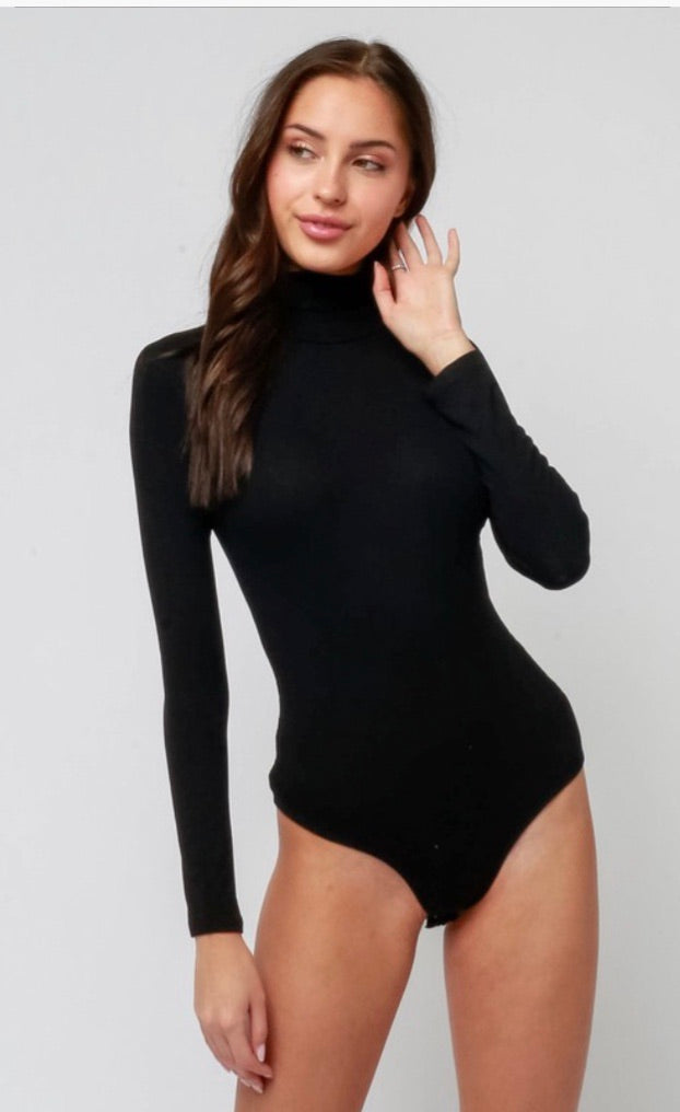 Date Night Basics Black Bodysuit