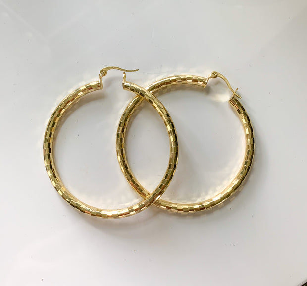 BRACHA Michelle Gold Hoop Earrings
