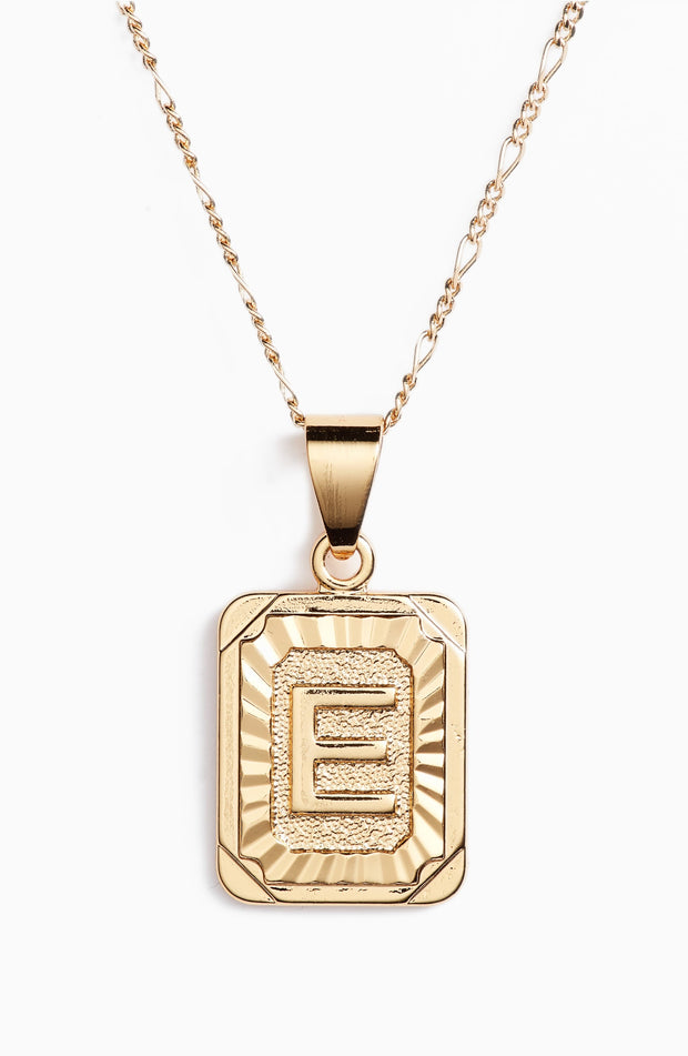 BRACHA Initial Card Gold Necklace