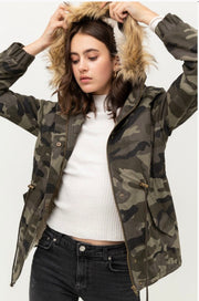 Now You See Me Camo Sherpa Lined Jacket