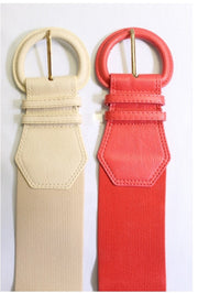 Go Figure Stretch Belt: Cream