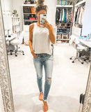 Kan Can: Monroe Super Skinny Jeans-Light Wash