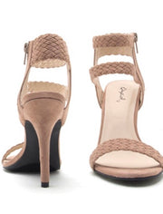 Walk This Way Faux Suede Heel: Khaki