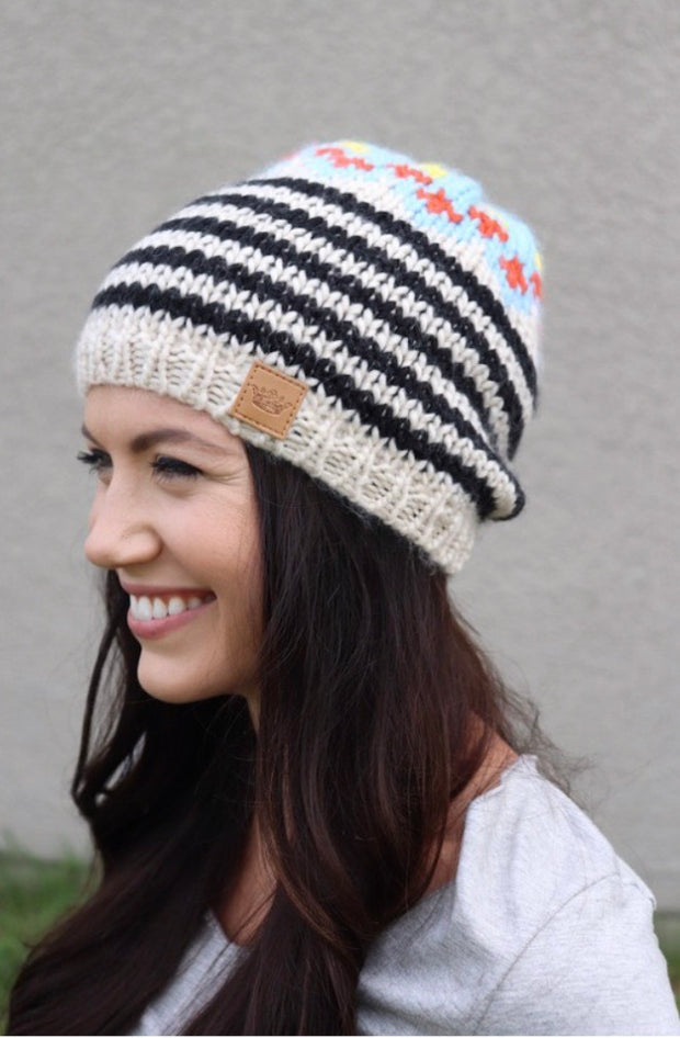 Winter Wonder Slouchy Fleece Lined Beanie Hat