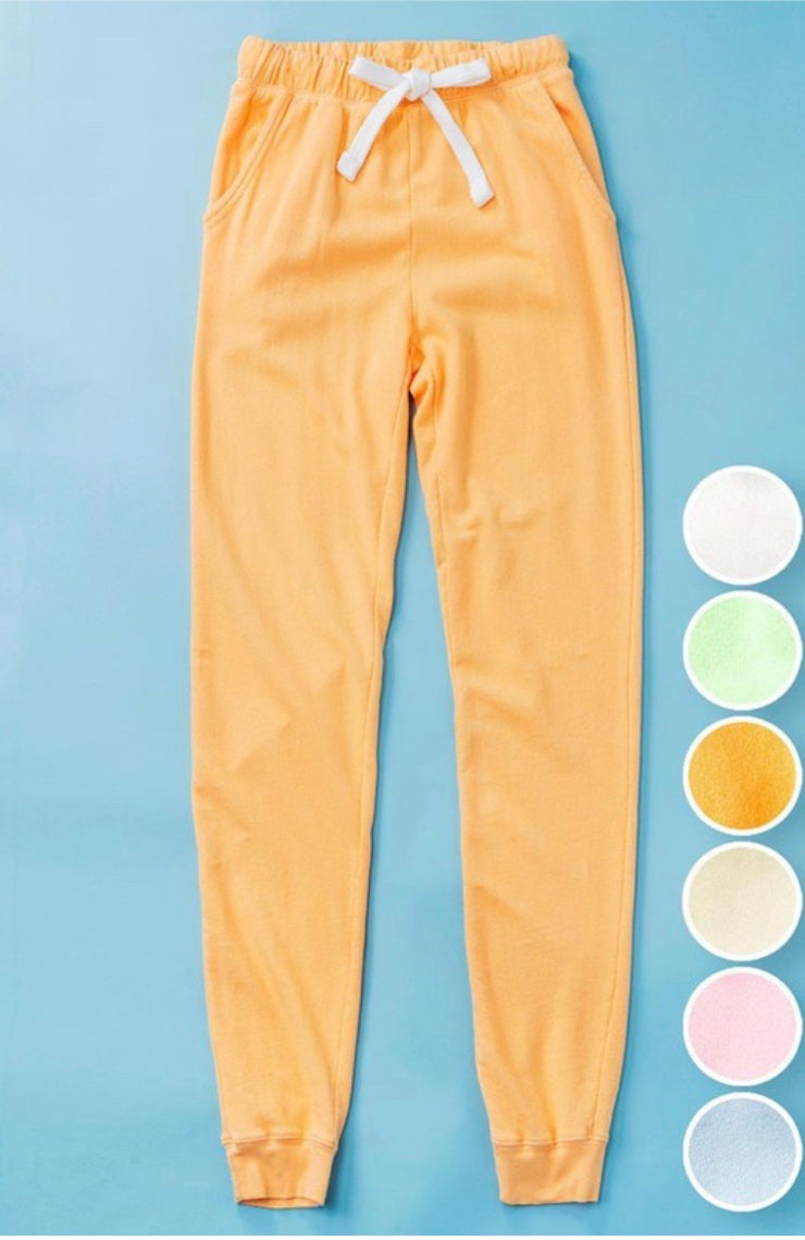 Dreams Come True French Terry Joggers: Cantaloupe