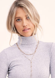 Not So Basic Ribbed Turtleneck: Heather Gray
