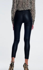 I'm On The Edge Faux Leather Super Skinny Pants