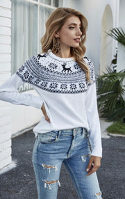A Wintry Mix Knit Sweater