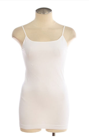 Seamless Cami Longer fit: White