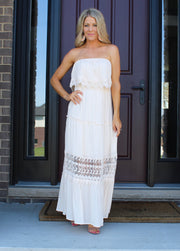 Bare With Me Maxi Dress: Vanilla
