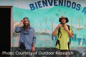 Insect Shield bug repellent clothing worn by two travelers in Mexico