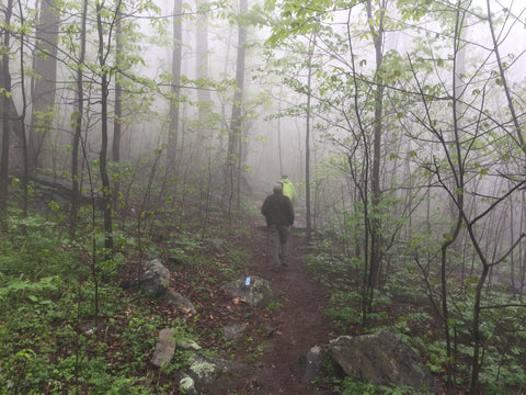 Many hikers on the Appalachian Trail wear Insect Shield bug repellent clothing