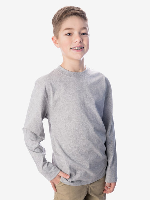 Boys' Insect Shield UPF Dri-Balance Long Sleeve T-Shirt, Heather Grey