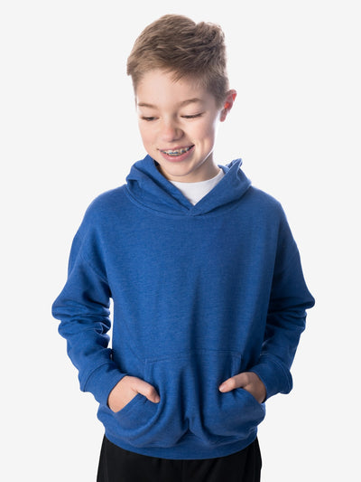 Front View - Boys' Insect Shield Hoody, Royal Blue