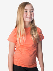 Girls' Insect Shield Short Sleeve T-Shirt, Coral