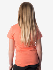 Back View - Girls' Insect Shield Short Sleeve T-Shirt, Coral