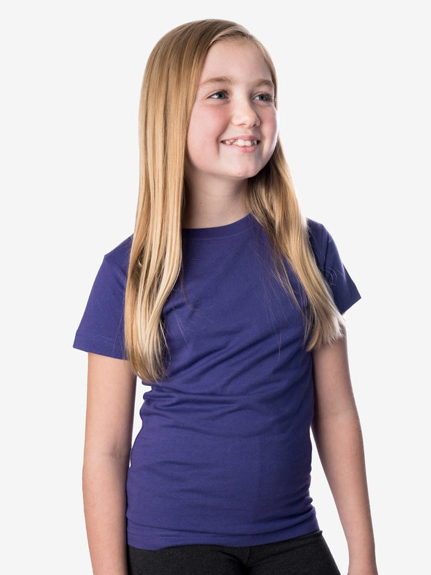 Girls' Insect Shield Short Sleeve T-Shirt, Purple