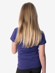 Back View - Girls' Insect Shield Short Sleeve T-Shirt, Purple