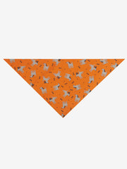 Dogs & Bones Bandana Folded, Orange